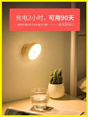 小夜燈 自動感應LED小夜燈充電池式款無線聲控家用過道樓道壁燈 莎瓦迪卡
