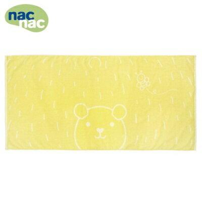 nac nac 波波熊浴巾 蜜蜂黃