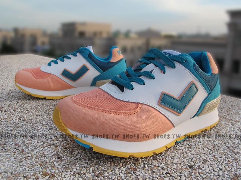 《超值5折》Shoestw【52W1SO66AN】PONY SOLA-T 復古慢跑鞋 內增高 白嫩粉藍 古著