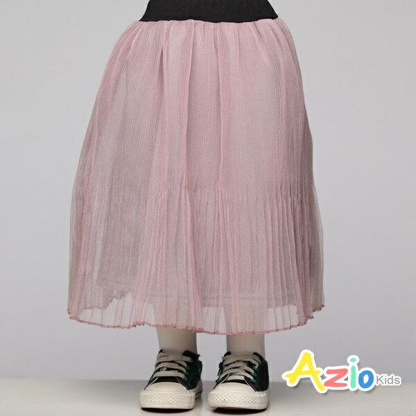 Azio Kids美國派:《美國派童裝》長裙百摺磨毛加厚內裡長裙(豆粉)