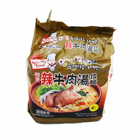 敵富朗超巿:[敵富朗超市]KORMOSA辣牛肉湯麵(110g×4入)(賞味期限2018.05.24)