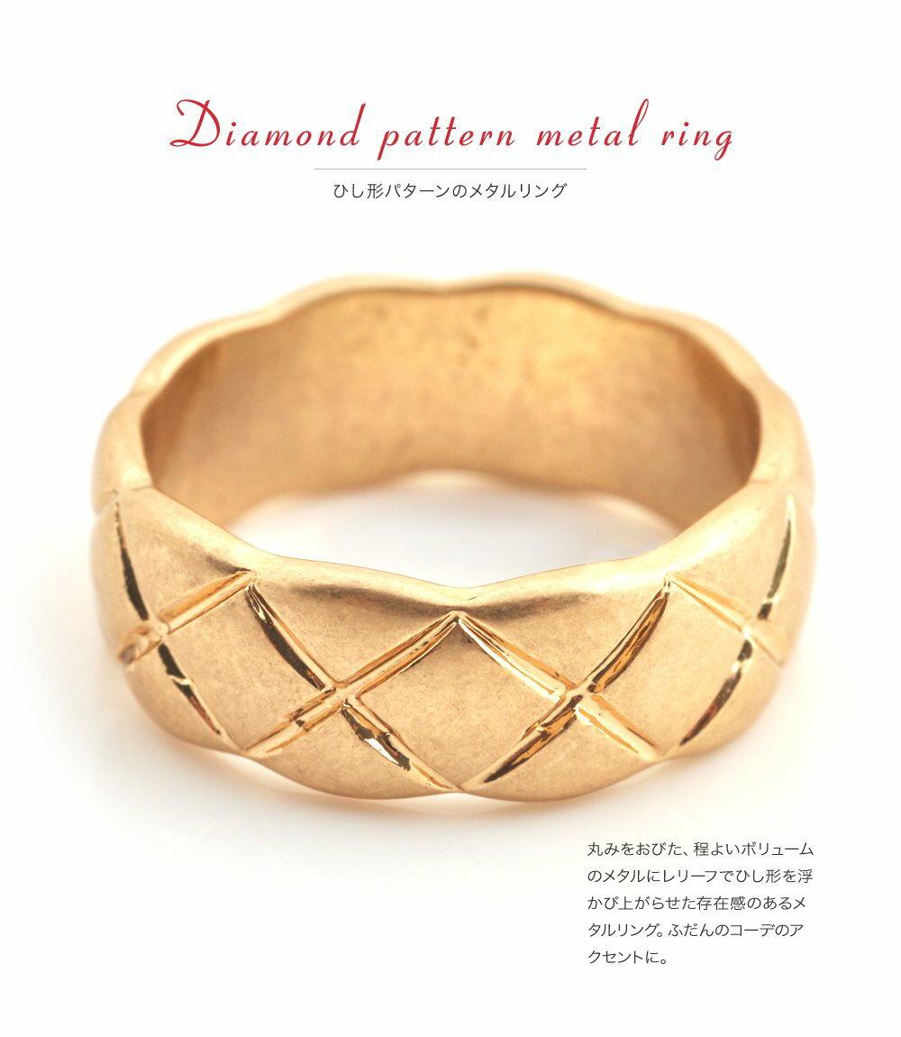 日本CREAM DOT  /  リング 指輪 金属アレルギー ニッケルフリー アクセサリー ボリューム 太め ごつめ 幅広 メンズライク 12号 メタル ゴールド シルバー シンプル 重ねづけ 上品 お呼ばれ 小物 ギフト 大人 レディース 女性  /  qc0434  /  日本必買 日本樂天直送(1190) 1