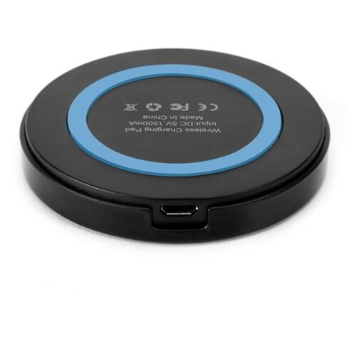 GMYLE Mini Qi Wireless Charger for All Qi Compatible Smartphones - Black / Blue 2