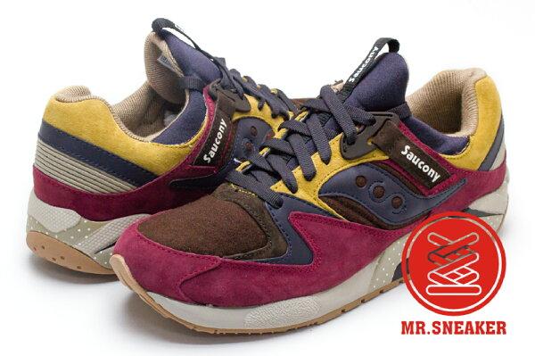 ☆Mr.Sneaker☆SauconyxBilly'sGrid9000聯名日本花園網狀避震緩震慢跑索康尼酒紅男女