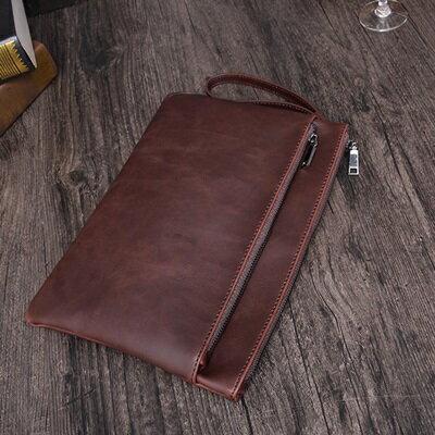 手拿包純色信封包-歐美復古紳士商務男包包73sd49【獨家進口】【米蘭精品】 1