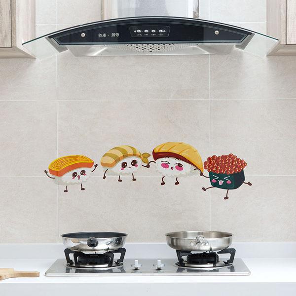 PS Mall 透明自粘贴纸灶台耐高温防油贴 玻璃貼 吸水貼 廚房貼紙 防水貼裝飾貼 【J1214】 3