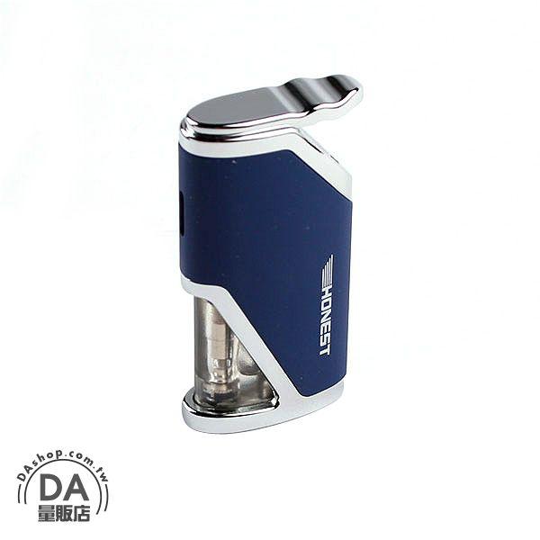 《DA量販店》 防風 造型 打火機 可填充瓦斯 藍色 攜帶方便 (37-943)