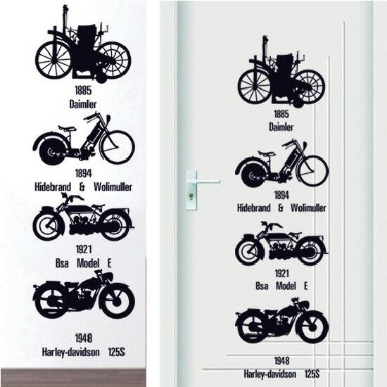 Loxin☆創意可移動壁貼 個性自行車【BF0988】DIY組合壁貼/壁紙/牆貼/背景貼/裝飾佈置/室內設計裝潢/客廳臥室浴室