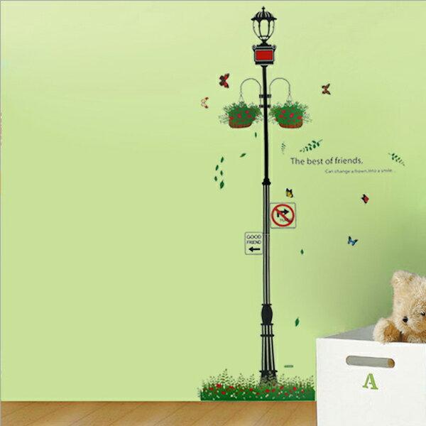 Loxin無痕壁貼牆貼居家裝飾壁貼紙時尚組合壁貼街燈【BF1295】