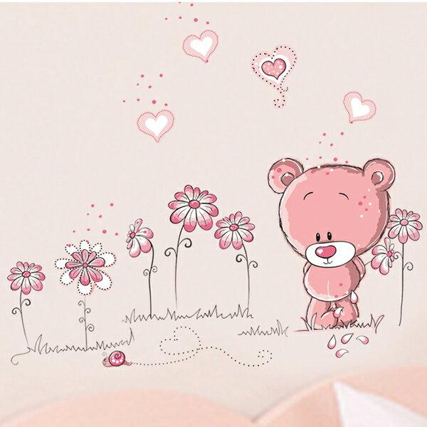Loxin 居家收納精品:Loxin【YP1430】創意可移動壁貼牆貼背景貼壁貼樹時尚組合壁貼璧貼[戀愛小熊]