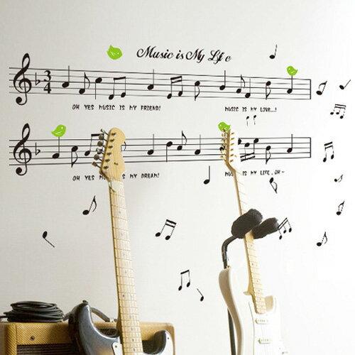 Loxin可移動 組合壁貼 牆貼 壁貼紙 創意璧貼 幼稚園學校音樂貼畫裝飾 音符【YV2941】