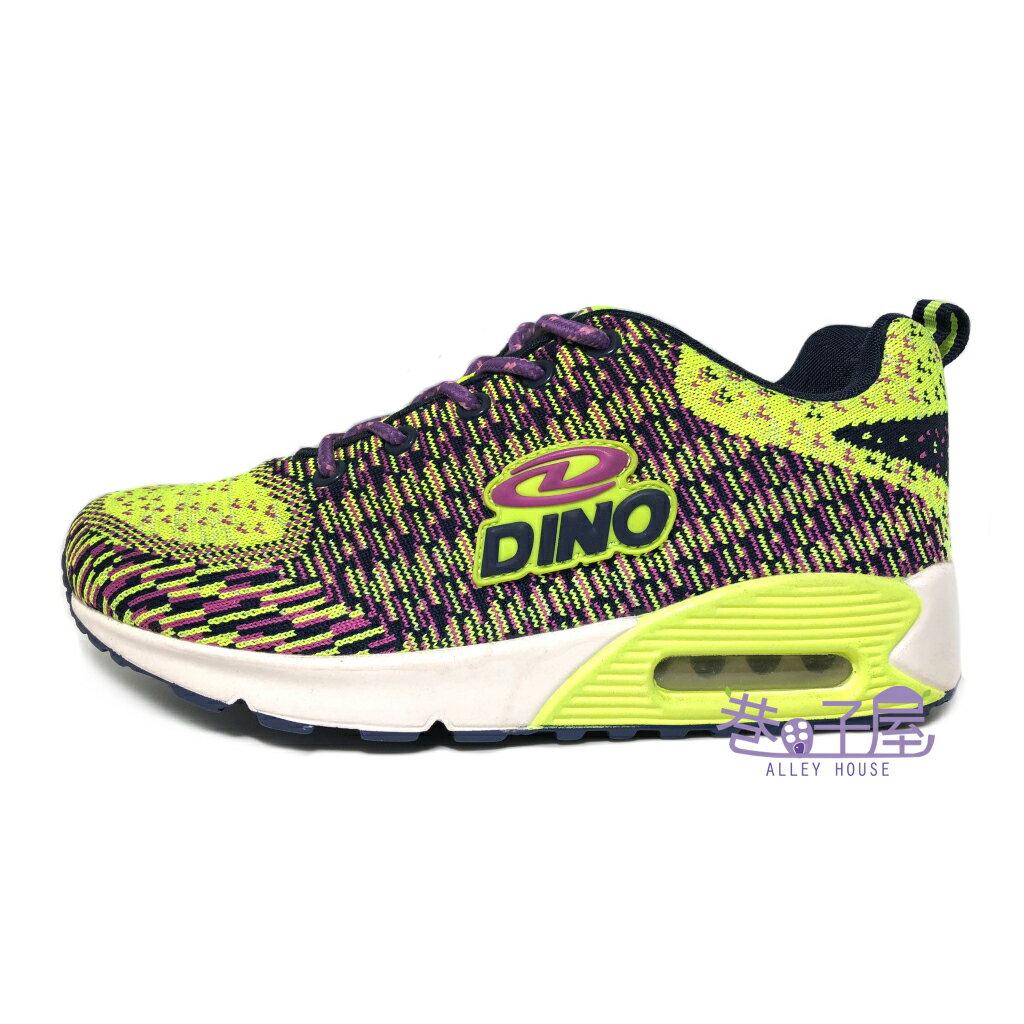 ~巷子屋~DINO 女款混色編織氣墊 慢跑鞋  3283  綠紫 價 298