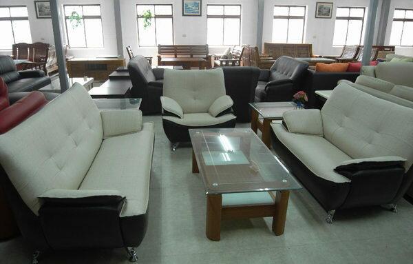 ~石川家居~SA~16 乳膠皮1 2 3雙色沙發組  可訂色 大台中一律