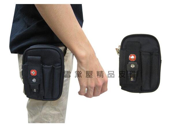 ~雪黛屋~SPYWALK腰包5吋手機適用外插筆二層主袋外掛式腰包工具包隨身物品型男必備腰包防水尼龍布SD2547