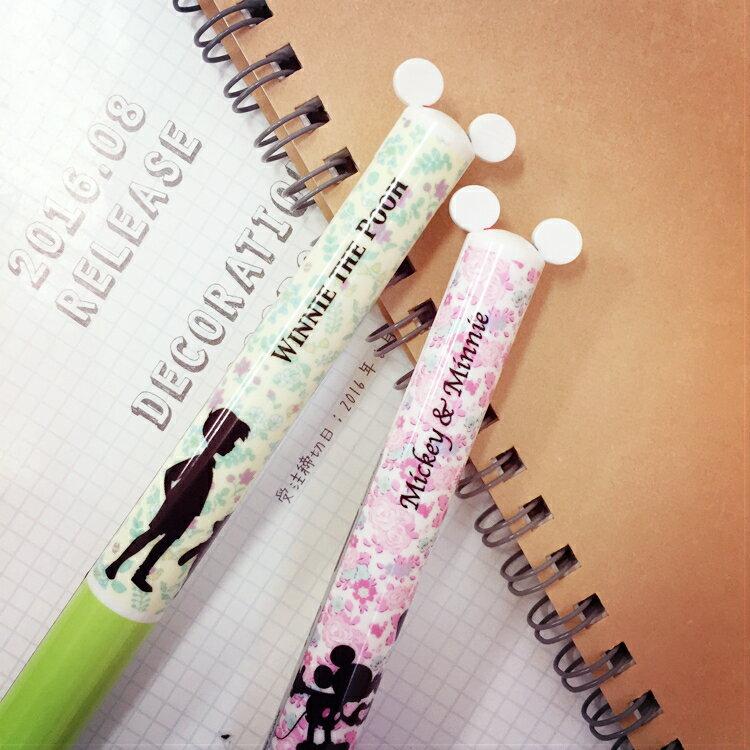 PGS7 日本迪士尼系列商品 - 剪影 造型 雙色原子筆 原子筆 雙色筆 筆 米奇米妮 小熊維尼【SHJ6425】