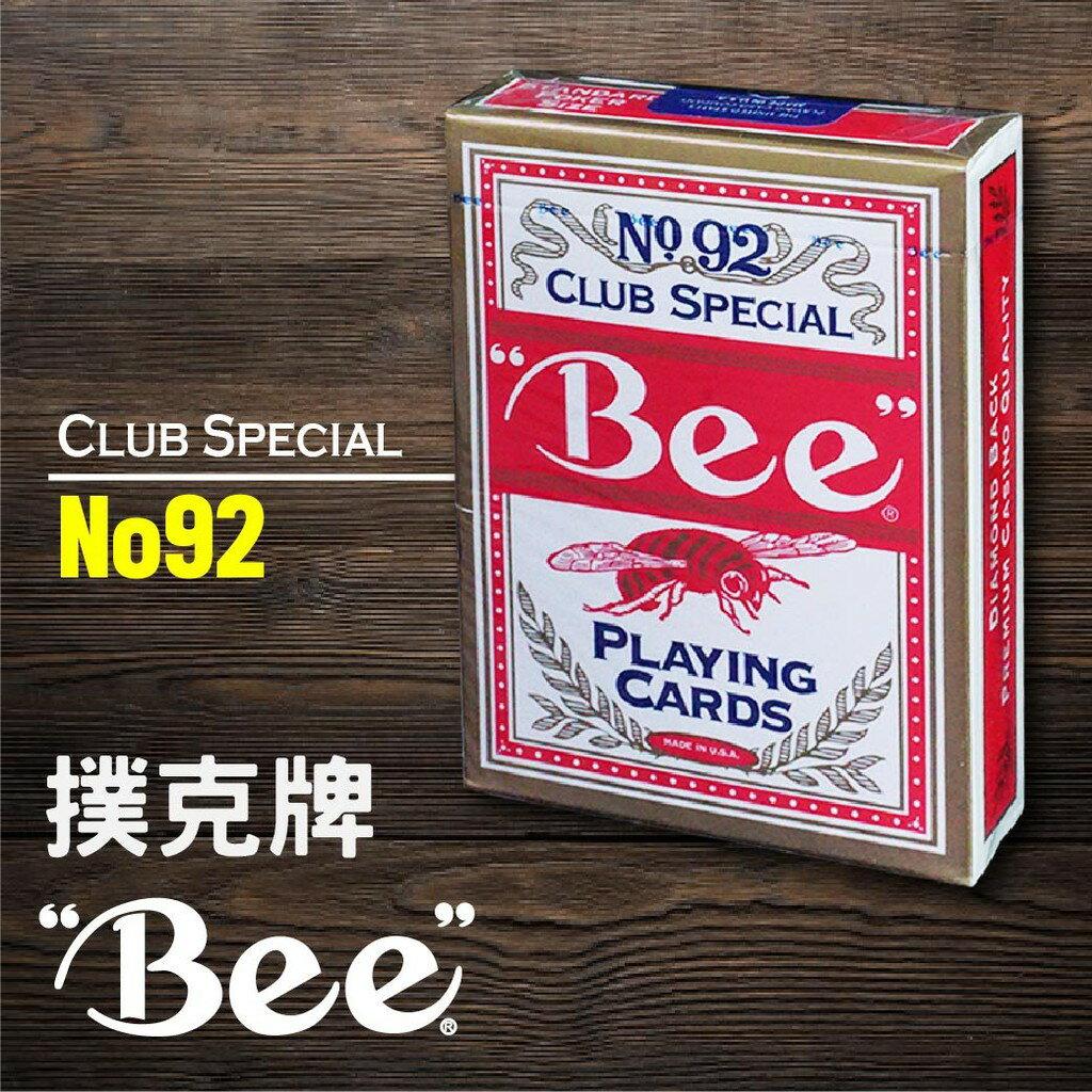 **西瓜籽**【BEE】美國 直送 撲克牌 No.92 Club Special(紅)
