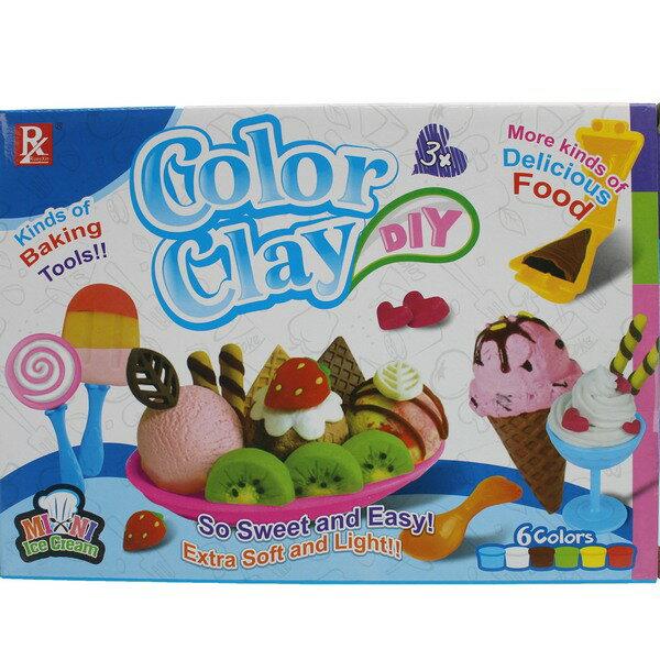 冰淇淋冰棒彩泥組DIY彩泥黏土童玩728B-1一盒入{促99}主題創意套裝黏土3D彩泥~CF135681