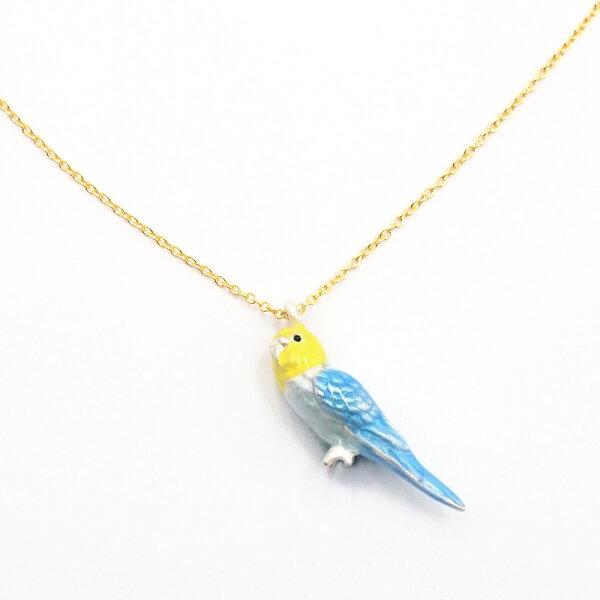 〔APM飾品〕日本gargle春風鳥語虎皮鸚鵡項鍊
