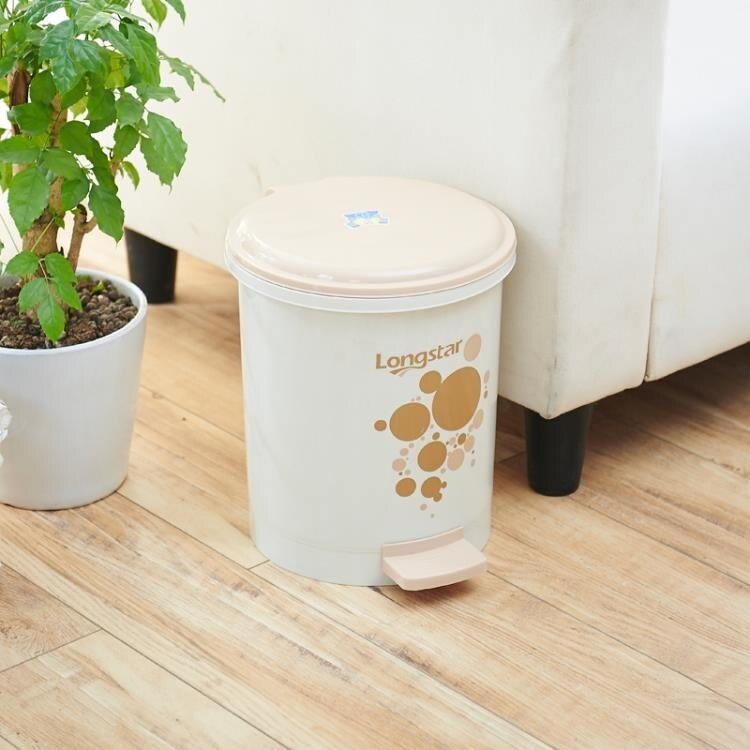 龍士達腳踩腳踏式垃圾桶家用帶蓋有蓋衛生間臥室翻蓋卡通可愛廁所 秋冬新品特惠