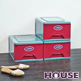 【nicegoods】經典單層收納整理箱M (16.5公升) 3入組(收納櫃 抽屜櫃 衣櫃 塑膠 整理箱)