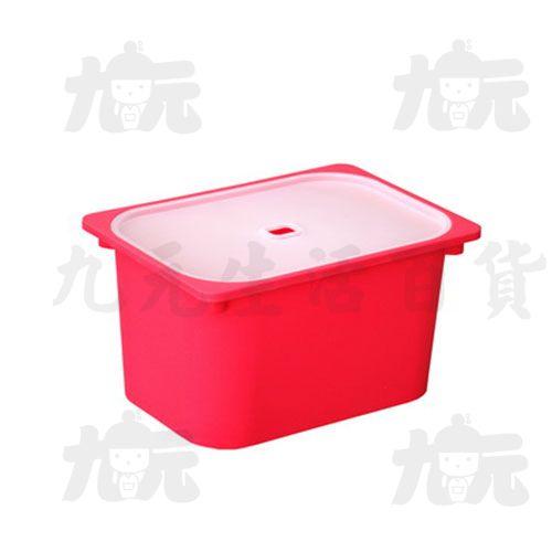 【九元生活百貨】聯府AW62-5卡拉2號附蓋儲物盒(紅)置物收納AW625
