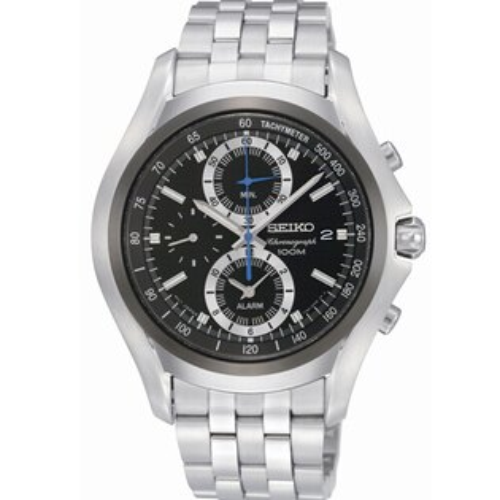 SEIKOCS捍將武士三眼計時腕錶黑面SNAE83P1(7T62-0KY0D)