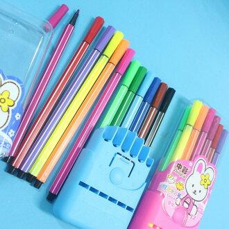 12色可洗水彩筆 中彩987-12筆型繪畫水彩筆(細桿.膠盒)/一盒入{促49}