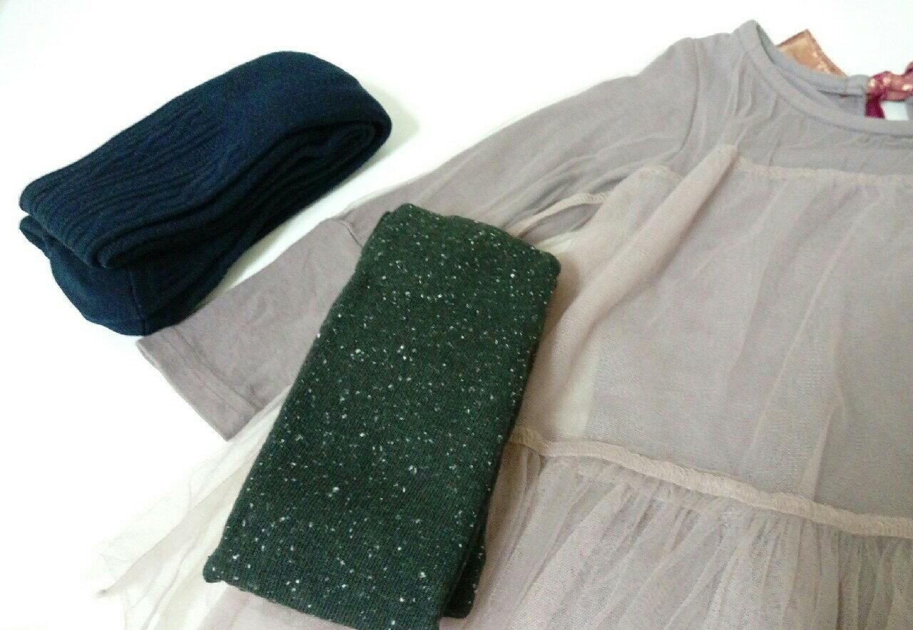 韓國 ~正韓厚棉法式優雅褲襪 螺紋深藍 棉點深灰  ~  好康折扣