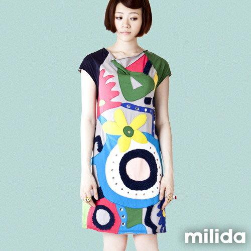 【Milida,全店七折免運】削肩袖氣質洋裝 5
