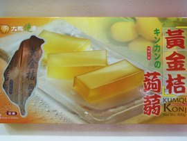 《小瓢蟲生機坊》大熊健康 - 黃金桔蒟蒻400公克(8條入/盒) 零食 蒟蒻條