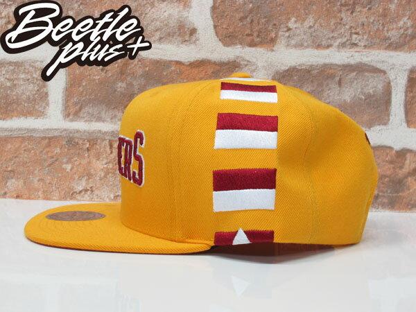 BEETLE MITCHELL&NESS NBA 克里夫蘭 騎士 黃紅 條紋 後扣 棒球帽 SNAPBACK MN-370 1