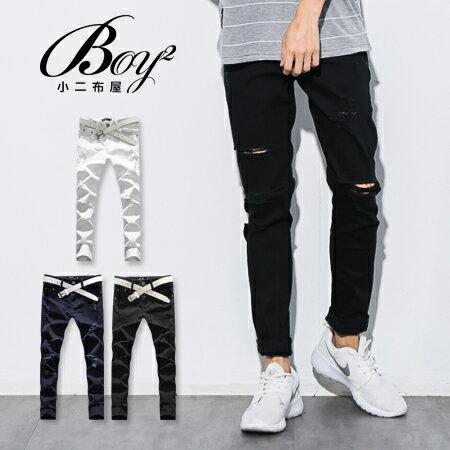 ☆BOY-2☆ 【PPK85029】刀割牛仔褲 韓版破壞抽鬚單寧褲 1