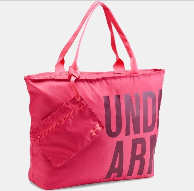 美國百分百【Under Armour】運動時尚 UA Logo 手提袋 肩背包 托特包 瑜珈袋 側背包 亮粉紅 H797