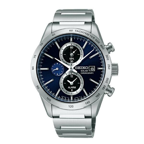 Seiko Spirit V172-0AP0L(SBPY115J)休閒太陽能計時腕錶/藍面41mm