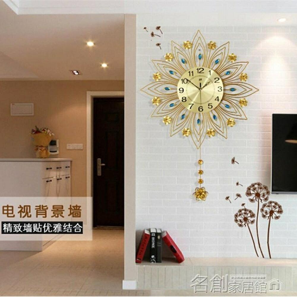 掛鐘客廳歐式鐘錶現代簡約創意個性家用靜音時鐘裝飾掛錶石英鐘大 名創家居館 DF