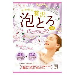 日本製 COW 牛乳石鹼 奢侈泡泡入浴劑 濃密泡泡(紫-茉莉+珍珠) 30g/包*夏日微風*