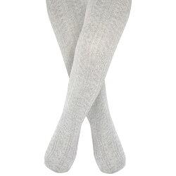 【愛寶貝】英國 JoJo Maman BeBe 編織螺紋寶寶小童內搭褲襪/保暖襪_灰色 (JJCable002)