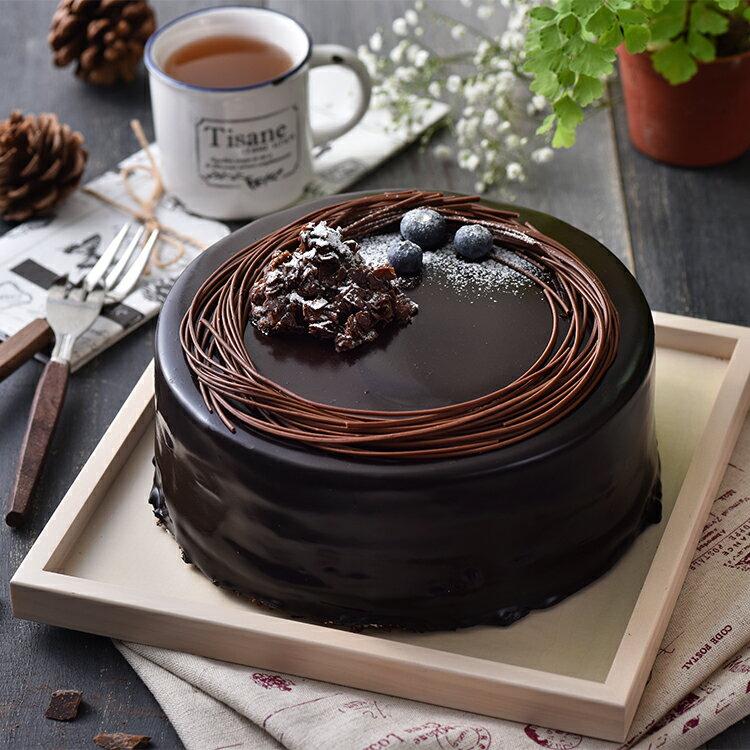 熔岩火山巧克力蛋糕(6吋)★免運★蘋果日報 母親節蛋糕 巧克力 第二名【布里王子】需五天前預訂 1