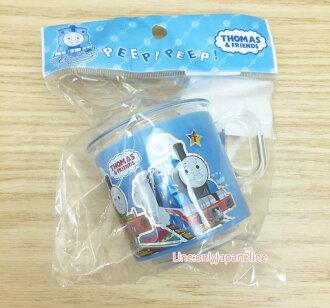 【真愛日本】17032400007 單柄塑膠水杯-TOMS透明杯緣 湯瑪士 小火車 卡通漱口杯 茶杯
