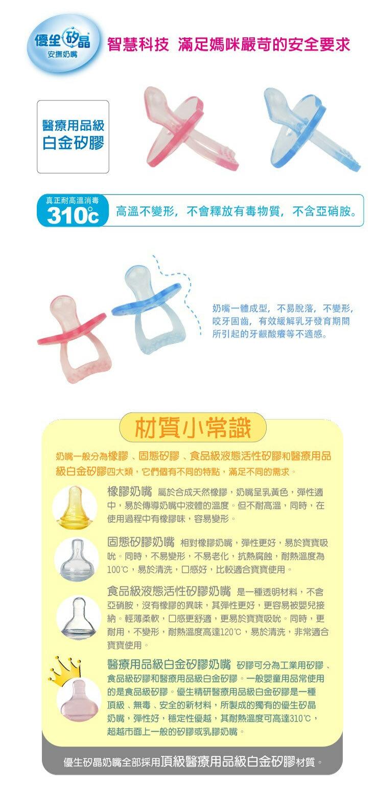 US Baby 優生 - 矽晶安撫奶嘴 (標準) -S (藍/紅) 2