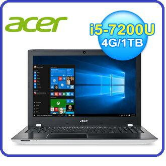 """ACER E5-575G 15.6吋 七代獨顯筆電 黑/紅/白 三色款 I5-7200U/15.6"""" FHD/4G DDR4/1TB/940MX-2G GDDR5/DVD燒錄器/W10"""