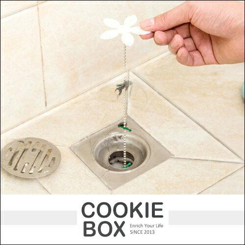 小花 地漏款 管道 疏通器 清除 毛髮 清潔鉤條 清潔鉤 排水孔 水槽 浴室 廚房 小工具 衛生 *餅乾盒子*