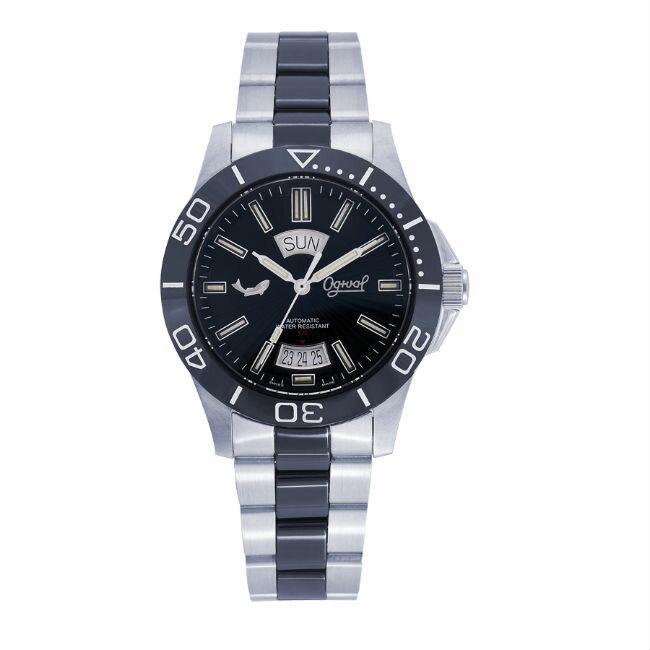 愛其華 Ogival (827-1ATMSB)夜鷹飛梭系列氚氣燈管時尚機械腕錶 / 40mm - 限時優惠好康折扣