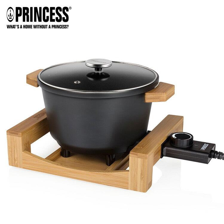 【PRINCESS】荷蘭公主 陶瓷料理鍋 / 黑 173026 (加贈油炸籃.調味罐.計時器) 0