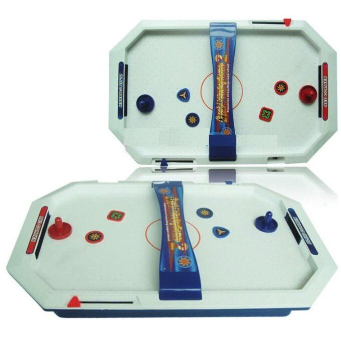 麗嬰兒童玩具館~《生活小樂趣》雙人對打競技遊戲機-浮碟曲棍桌上冰球撞擊機 2