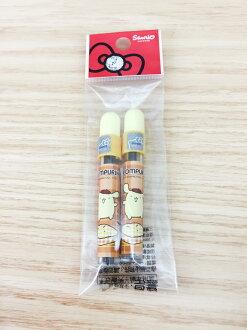 【真愛日本】16011400027 圓鉛芯筒-PN黃 布丁狗 三麗鷗 文具 筆芯 鉛筆芯 替換 辦公室用品