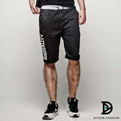 DITION 美式TREND螺紋短棉褲 拳擊SLIDE健身 1