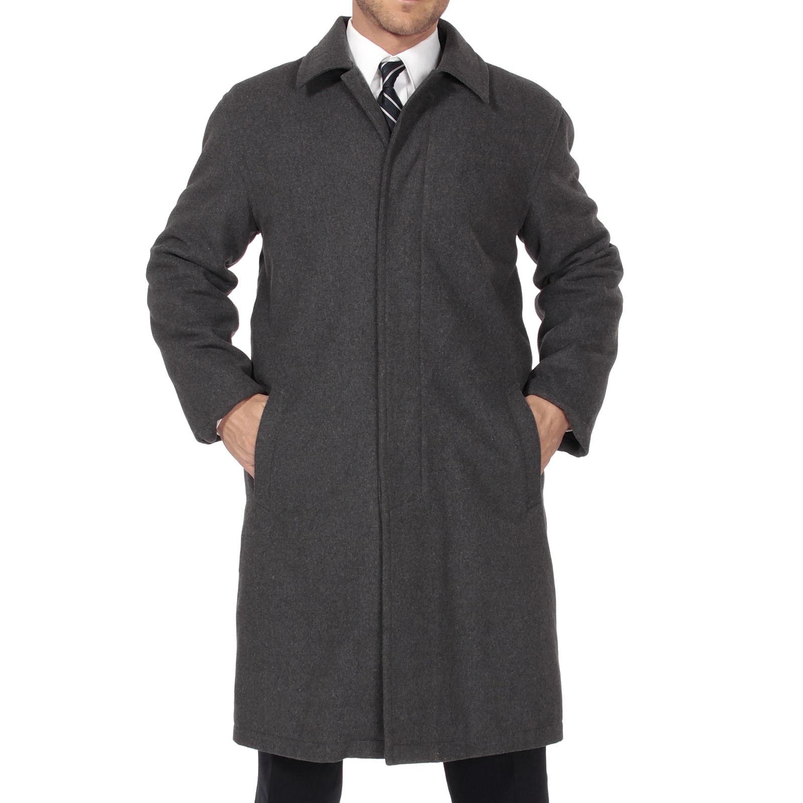 Alpine Swiss Men's Zach Knee Length Jacket Top Coat Trench Wool Blend Overcoat 0