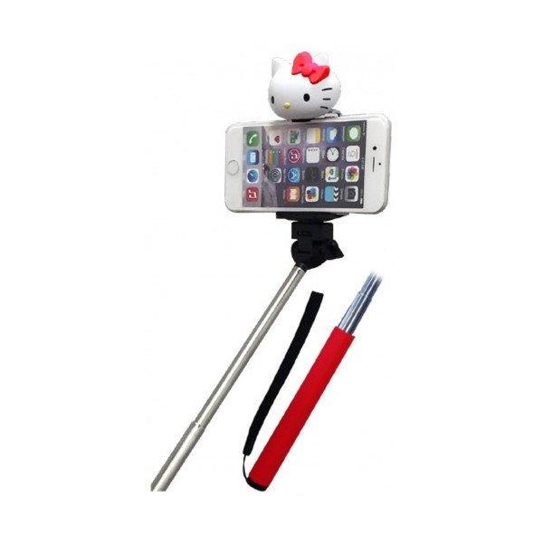 【真愛日本】15041500024 自拍神器-KT紅 凱蒂貓 三麗鷗 Kitty 自拍桿 自拍棒