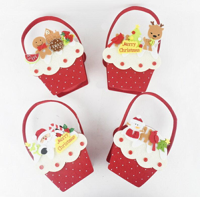 X射線【X422126】蛋糕造型糖果袋-4款隨機出貨,聖誕節/提袋/佈置/裝飾/擺飾/會場佈置/表演/交換禮物/糖果袋/南瓜袋/武器
